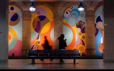 Beatriz Milhazes - Paineis Metro Londres 01 2008