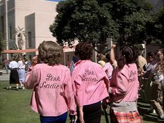 the Pink Ladies from Grease
