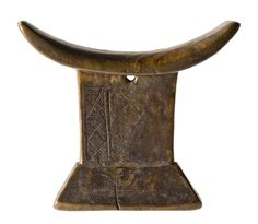 Africa | Headrest from the Zambezi Delta region of Mozambique | Wood | Collected by Dr John Kirk, economic botanist on David Livingstone's Zambezi Expedition, 1858 - 1864