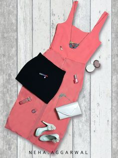 #LookYourBestIna 1. Pink Maxi Top 2. Black Mini Skirt 3. Cream Pumps 4. Nude Sling Bag 5. Minimal Make Up 6. Multicoloured Choker 7. Cream Dangle & Drop Earrings