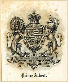 Bookplate showing the coat of arms of Albert, Prince Consort. - Wikipedia, the free encyclopedia