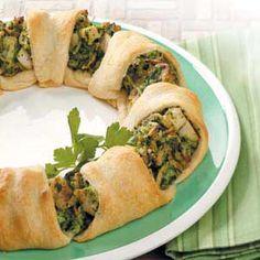 Chicken Spinach Crescent Appetizer