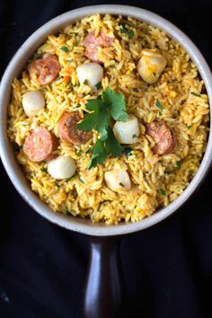 Easy Scallops  & Chorizo Paella - Erren's Kitchen