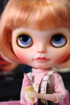 For me, just ordered her!!  OOAK Custom Blythe doll Face up and Customized by Thehandflower