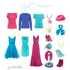 """Light Summer Brights"" by sabira-amira on Polyvore"