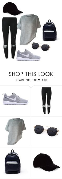 """Sporty look"" by mariacostaaa ❤ liked on Polyvore featuring adidas, Lacoste and Le Amonie"