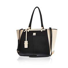 Black printed winged tote bag £45.00