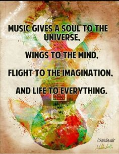 Dance, Art, Acting, while all wonderful things are only beauty to the eye. Music, is beauty to the ear.
