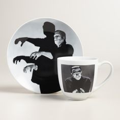 Get into the spirit with our collection of dinnerware featuring an iconic photo image of silver screen spookiness. >> #WorldMarket Halloween