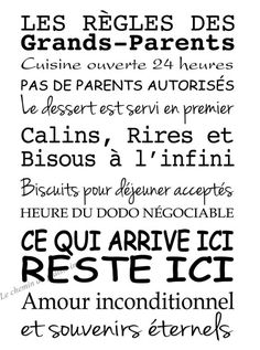 Grands-parents? Ah bon? Connais pas......