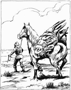 Returning home with a trophy head. (Jeff Easley from AD&D Greyhawk Adventures, TSR, 1988.)