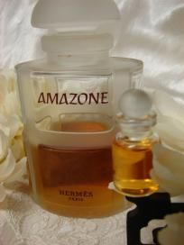 Authentic HERMES AMAZONE Parfum Sample Bottle Pure Perfume 2.5 ml Decant Hard to Find French Perfume