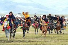 Litang Horse Racing festival, local people in Sichuan.