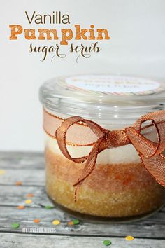 Homemade Vanilla Pumpkin Sugar Body Scrub