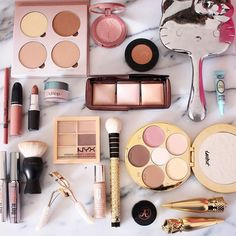 Such a Pretty Luxury Makeup Flatlay from @slave2beauty ♡♥♡♥♡♥