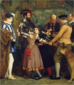 """The Ransom,"" 1860 - 1862, John Everett Millais. John Everett Millais was born #onthisday in 1829 in Southampton, England."