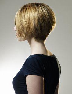 short bob hair, I like how the hair lays on her neck