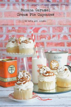 Curly Girl Kitchen: Banana Caramel Cream Pie Cupcakes