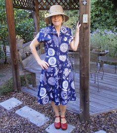 Gertie dress in heavy weight fabric