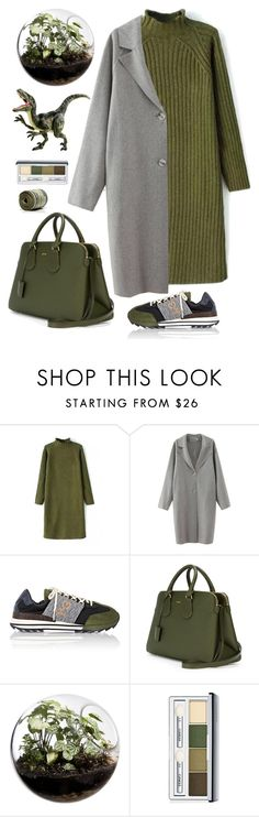 """Olive dress"" by bo-jane ❤ liked on Polyvore featuring Y-3, Bally, Home Essentials, Clinique, Dinosaurs, holidaystyle, beautifulhalo, oversizeddress and bhalo"