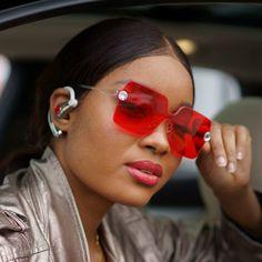 8ad74139415 Becca Spring Swarovski® Crystals Rimless Sunglasses (Red Garnet)