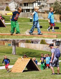 obstacle course ideas | Awesome Army Boot Camp Birthday Party // Hostess with the Mostess®