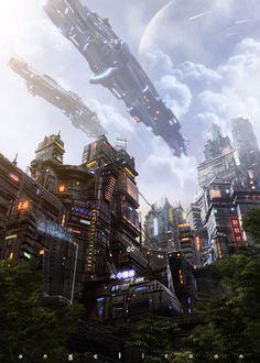 NEGOCiudad by angelitoon.deviantart.com, futuristic city, future buildings, futuristic architecture, science fiction