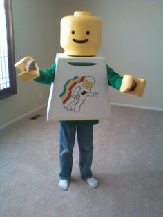 LEGO Costume - Kids Lego Fancy Dress, Lego Costume, Costumes, Costume Ideas, School Stuff, Party Ideas, Cosplay, Guys, Halloween