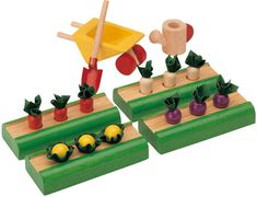 Plan Toy Doll House Vegetable Garden! #Organic #LISHolidays #GiftGuide #PlayMatters #PlanToys
