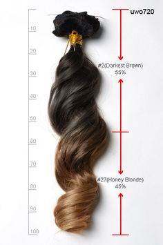 20 inches Straight Two Tone Ombre Indian Remy Clip in Hair Extension usw150_s1