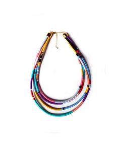 Thread Wrapped Necklace, African Necklace, Tribal Necklace, Multistrand Necklace, Multicolored Jewelry UK on Etsy, $59.35