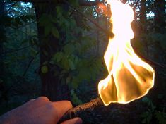 Survival Skills: How To Make A Torch | Outdoor Life Survival. Toilet paper and cooking oil