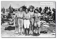 Jewish women before their execution in Liepeja, Latvia.