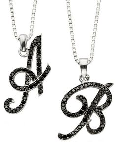 To the letter.) enliven these chic initial pendants—stunning on their own or layered with other chains for a luxe look. Letter Pendants, Initial Pendant, Alphabet Necklace, Sterling Silver Necklaces, Diamond Engagement Rings, Initials, Jewelry Watches, Fine Jewelry, Bling