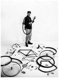 Robert Doisneau - Le Vélo de Tati by Robert Doisneau, 1947