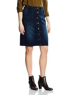 ce91bcb6a7 Cream Women's Carolan Skirt Blau (Dark Blue Denim 62903) 36 (EU)