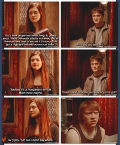 harry potter, ron weasley, and ginny weasley image Harry Potter Jokes, Harry Potter Fandom, Harry Potter Deleted Scenes, Fandoms, Dr Who, Must Be A Weasley, Ron Weasley, Harry Potter Ginny Weasley, Hermione Granger