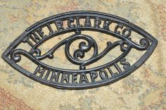 Antique Sad Iron Trivet The J R Clark Co by GoodeGirlVintage, $16.99