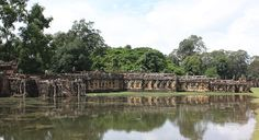 Elephant Terrace at Angkor Thom in Siem Reap Cambodia Date: End of 12th century, Reign: Jayavarman VII, Religion: Buddhist