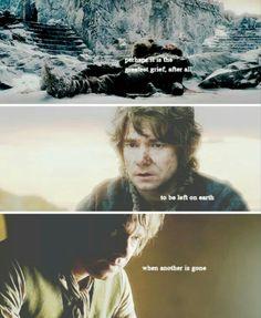 Richard as Thorin Oakenshield and Martin Freeman as Bilbo Baggins in The Hobbit movies