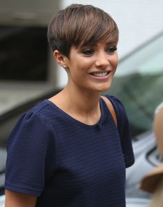 Frankie Sandford and The Saturdays on a promotional morning in London, Britain - 11 Aug 2014