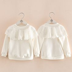 2017 New Autumn Fashion LACE Girls Sweatshirts Children Clothing Pullover Baby Hoodies Cute Princess Costume for Girls Clothes //Price: $30.08 // #baby #babygirlsweatshirt #babygirlsweatshirts