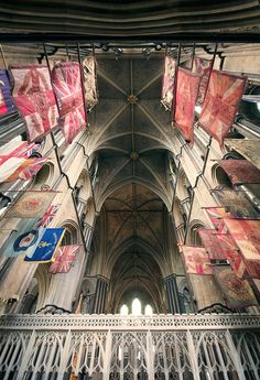 ~Across by archidave, via Flickr, Worcester Cathedral, UK~