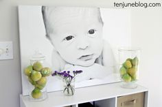 Make your baby the star of his nursery with a canvas print.