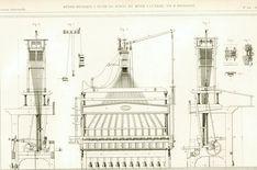 1853 Plans Métiers à Tisser. Gravure Ancienne Brevet Industrie Textile Armengaud Technique Paris. de la boutique sofrenchvintage sur Etsy