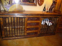 Hacienda Travertine Buffet.  Could possibly be used as partial book case.