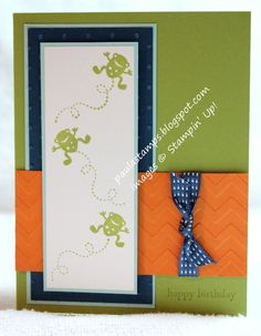 Stampin' with Paula - cute Moving Forward idea and layout