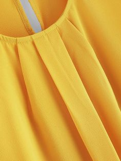 Blusa bajo curvo con diseño fruncido de manga pétalo Petal Sleeve, Detail, Sleeves, Fashion, Women's Clothes, Women's, Templates, Sleeveless Tops, Clothing