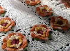 Vanecroche e patch: Tapete Flor de Laranjeira com passo a passo