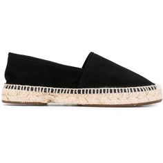 Chie Mihara Paia espadrilles ($163) ❤ liked on Polyvore featuring shoes, sandals, black, chie mihara, real leather shoes, black espadrilles, leather espadrilles and leather sandals